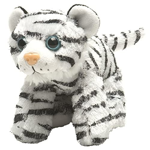 Wild Republic 16234 - Peluche - Hug'ems - Tigre - 18 cm - Blanc