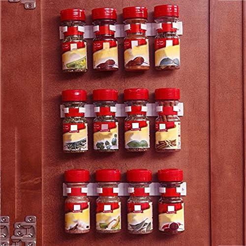 TAOHOU Clip N Store Kitchen Spice Organizer Storage Rack Kitchen Seasoning Carrier White