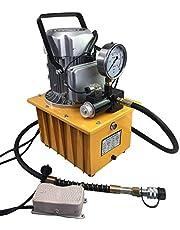 Elektrische hydraulische pomp, 750 W, 700 bar, elektrische hydraulische pomp met handmatig ventiel en 1,8 m olieslang