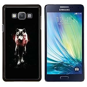 TECHCASE---Cubierta de la caja de protección para la piel dura ** Samsung Galaxy A7 ( A7000 ) ** --OSCURO WOLF GLOW
