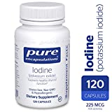 Pure Encapsulations - Iodine (Potassium Iodide) - Hypoallergenic Supplement Supports Healthy Thyroid Function* - 120 Capsules