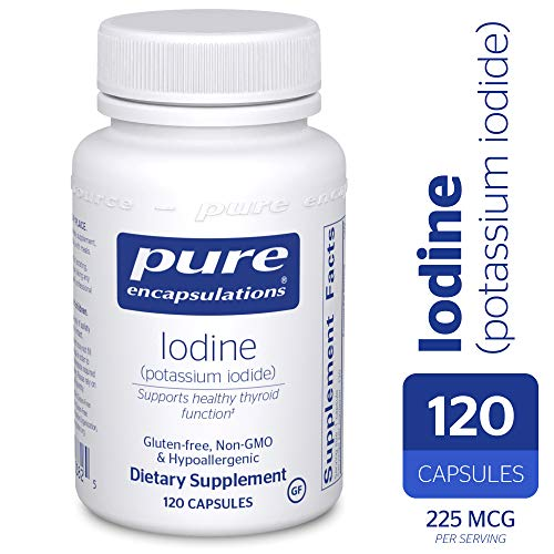 Pure Encapsulations - Iodine (Potassium Iodide) - Hypoallergenic Supplement Supports Healthy Thyroid Function* - 120 Capsules (Organic Iodine Supplement)
