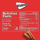 Trident Cinnamon Sugar Free Gum, 12 Packs of 14