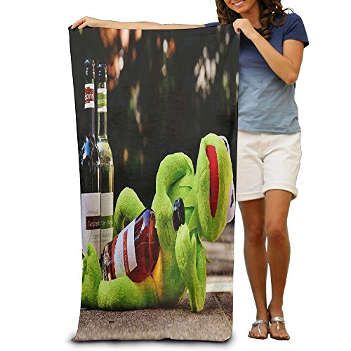 Promotional Drunk Frogs Oversized Beach Towel Pool Towel,swim Towels For Bathroom,Gym,and Pool 31 In X51 In