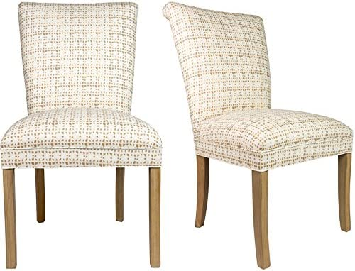 Sole Designs The Barcelona Collection Contemporary Style Fabric Upholstered Armless Dining Side Chairs Set of 2