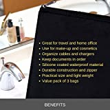 Zipper Bag - Set of 3 - Carry All Pouch to Organize Travel Toiletries Pens Cosmetics