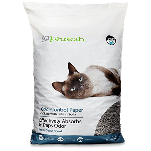 So Phresh Odor Control Paper Pellet Cat Litter, 25 lbs. (Recycled Paper Pellets)