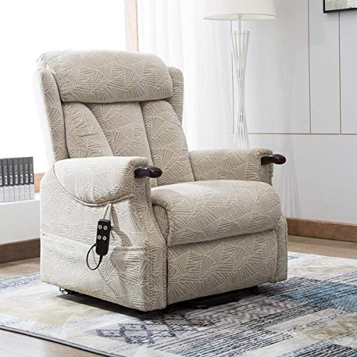 Warwick Dual motor electric riser and recliner chair with wooden knuckles