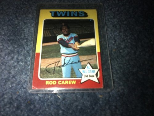 1975 MLB Topps Rod Carew Card #600! Minnesota Twins, Anaheim Angels! All Star 2nd Base!
