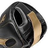Hayabusa T3 Adjustable MMA Headgear - Black/Gold