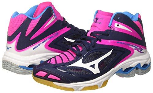 Para Z3 pinkglo Lightning Voleibol white peacoat Zapatos Mizuno Wave W Multicolor De Mid Mujer R85FO