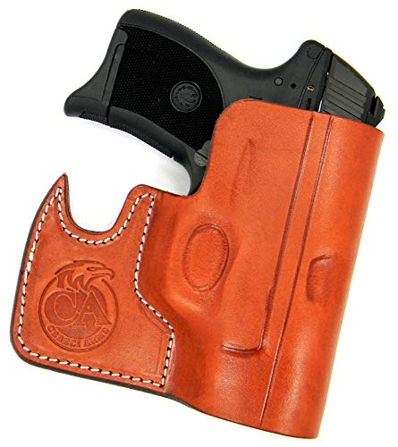HOLSTERMART USA Ambidextrous Premium Brown Leather Front Pocket Concealment Holster for Ruger LC9 LC9S LC380 EC9S ()