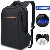 LAPACKER 15.6 Anti Theft Slim Water Resistant Laptop Backpack Bag for Men&Women, Lightweight Business Travel College Computer Backpacks for Laptop in Black