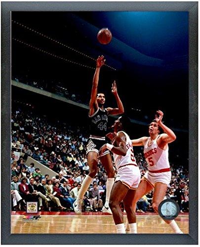 ジョージガービンSan Antonio Spurs NBAアクション写真(サイズ: 12 cm x 15 cm )フレーム   B00L2LND96