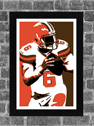 ICONIC Cleveland Browns Baker Mayfield Portrait Sports Print Art 11x17