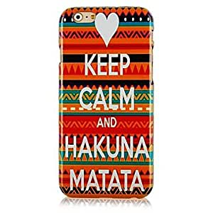 WQQ Letters Stitching Color Pattern Hard Back Case for iPhone 6