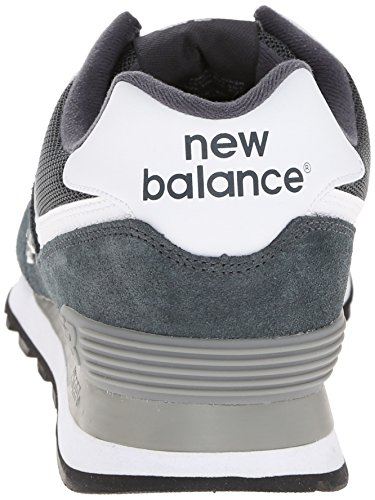 888546369214 - New Balance Men's ML574 Picnic Pack Collection Classic Running Shoe, Dark Grey/Silver, 7 D US carousel main 1
