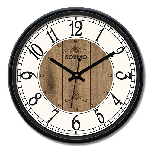 Amazon Brand – Solimo 12-inch Wall Clock – Clique Clock (Silent Movement)