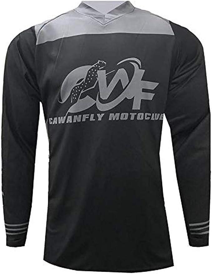 Motorcycle Jersey Off-Road Men Long Sleeve Dirt Bike Riding Pullover Jersey Cool Motocross Racewear