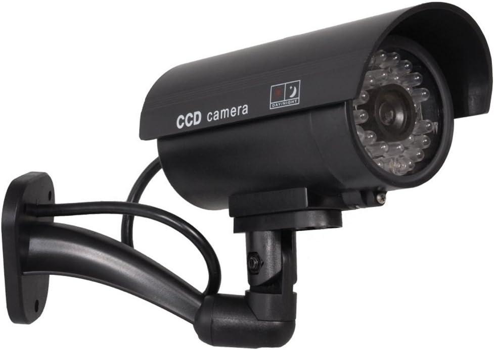 IR9000/B Camera Dummy Surveillance Camera Dummy Alarm System Waterproof LED Light