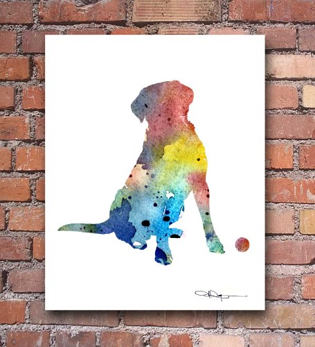 Labrador Retriever Abstract Watercolor Art Print by Artist DJ Rogers