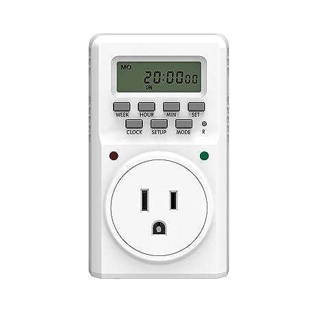 BALDR Digital Programmable Timer Socket Plug Wall Plug-in Switch ...