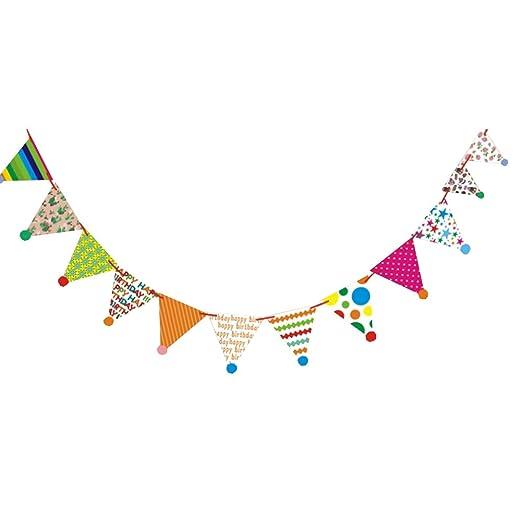 Lee Joe - Banderín de cumpleaños, diseño de triángulo, Papel ...
