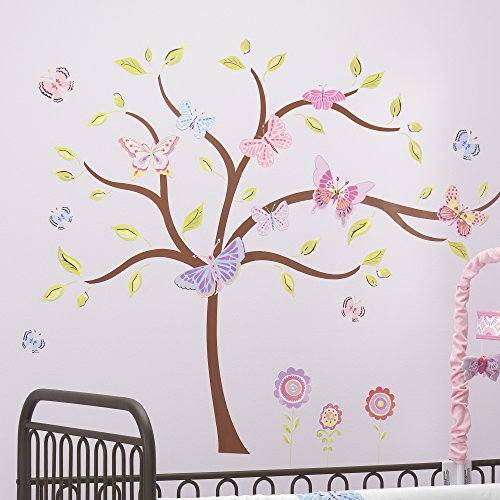 - Lambs & Ivy Happi by Dena Butterfly Garden Wall Appliques, Pink/Purple
