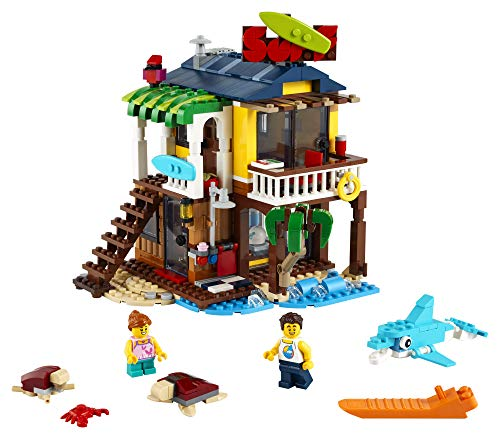 LEGO Creator 3in1 Surfer Beach House 31118 Building Kit Featuring Beach Hut and Animal Toys, New 2021 (564 Pieces)