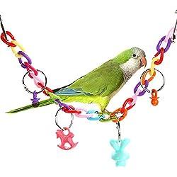 Embiofuels(TM) Parrot Bird Toys Acrylic Bird Bridge Chew Swing Ladder Scratcher Toys for Parrot Parakeet Budgie Pet Bird Accessories