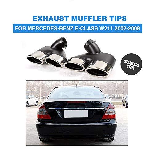 FidgetKute 2X Exhaust Muffler Pipe Dual Tips W211 for Mercedes-Benz E320 E350 E55 AMG 02-08