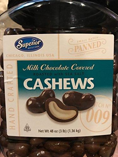 Milk Chocolate Covered Cashews (1) 3lb Jar!!! (Superior Chocolate)