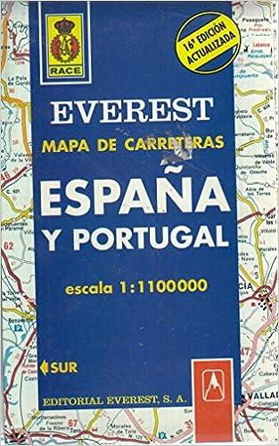 España Y Portugal Mapa.Mapa Everest De Carreteras Espana Y Portugal Spanish