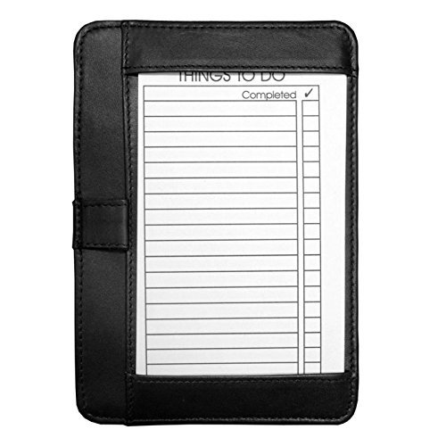 (Winn International Cowhide Leather Pocket Brief for Note Cards 9007 Color:Black by)
