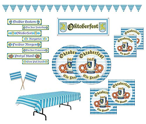 Octoberfest Party Supplies Tableware Decorations for 16 Guests