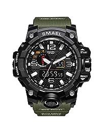 SMAEL Reloj Militar, Reloj Deportivo de Cara Grande Estilo Ejército Multifuncional Reloj de Pulsera para Jóvenes