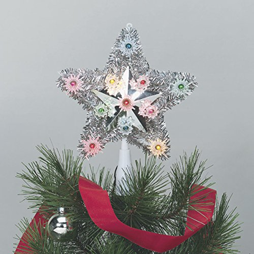 Celebrations 4951-71 Tinsel Star Tree Top assorted gold or silver star by Celebrations (Image #1)