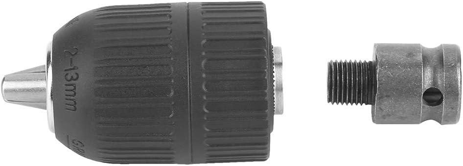 portabrocas de 2-13 mm con v/ástago Hexagonal de Cambio r/ápido Convertir Destornillador de Impacto y Llave a Taladro Yosoo Health Gear Portabrocas