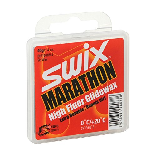 Swix DHF 104BW-4 Cera F Marathon 'Dirty Harry' High Performance First Layer Wax, Grey, 40gm by Swix