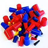 80 Pc 1/16'' to 3/4'' High Temp Silicone Rubber Tapered Plug Kit - Powder Coating Custom Painting Supplies