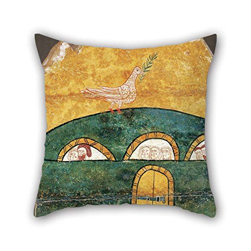 TonyLegner Pillowcover of Oil Painting Anonymous, Catalan - Noah??s Ark 18 X 18 Inches / 45 by 45 cm Best Fit for Indoor Teens Boys Home Office Deck Chair Sofa Each Side