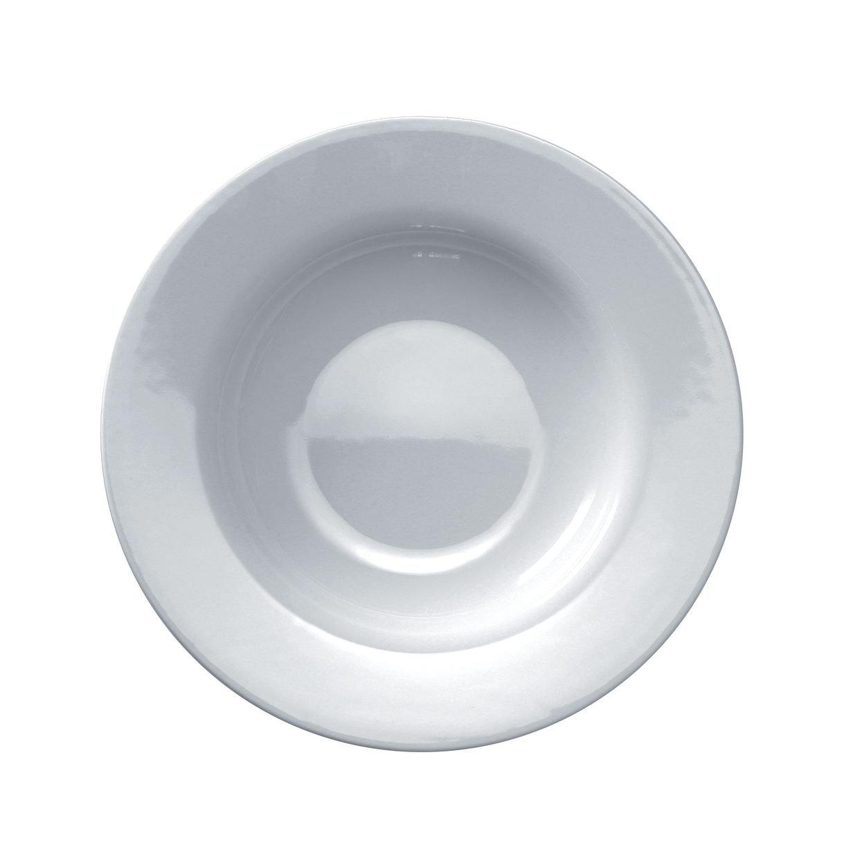 A di Alessi 8-3/4-Inch Platebowlcup Soup Bowl, White Porcelain, Set of 4
