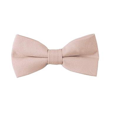 6dd787568625 Blush Beige Bow Ties Linen Neckties