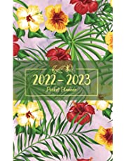 2022-2023 Pocket Planner: Two-Year Monthly Calendar Planner for Purse - 24 Months Pocket Agenda Schedule, To-do list, US Holidays & Quotes - 2-Year Pocket Planner - Flowers, Foliage & Watercolor Cover