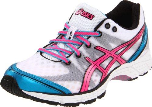 ASICS Women's GEL-DS Racer 9 Running Shoe,White/Neon Pink/Electric Blue,11 M US