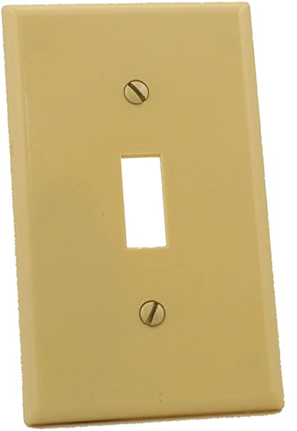 Leviton 86001 1 Gang Toggle Device Switch Wallplate Standard Size Thermoset Device Mount Ivory Switch And Outlet Plates