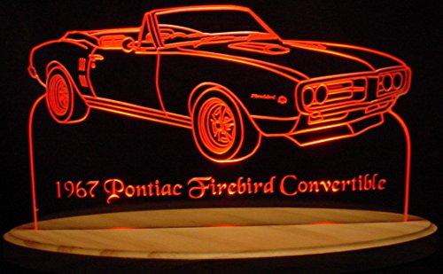 1967 Firebird Convertible Acrylic Lighted Edge Lit LED Sign 13