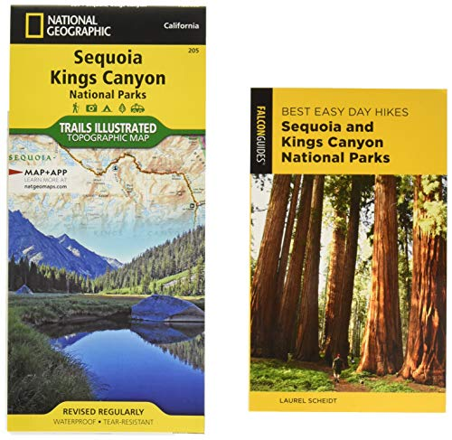 Best Easy Day Hiking Guide and Trail Map Bundle: Sequoia and Kings Canyon National Parks