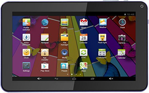 KOCASO MX9200 [9-INCH] [Google Android 4.4] Tablet PC- Quad Core, 8 GB ROM, 800 x 480 HD Resolution, WiFi, GPS, Dual Camera, G-Sensor Screen, Micro USB Port, Micro SD Slot & FREE ACCESSORIES- Purple
