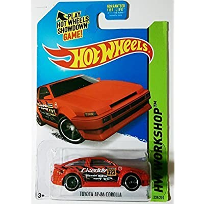 Hot Wheels, 2015 HW Workshop, Toyota AE-86 Corolla [Red] Die-Cast Vehicle #239/250: Toys & Games